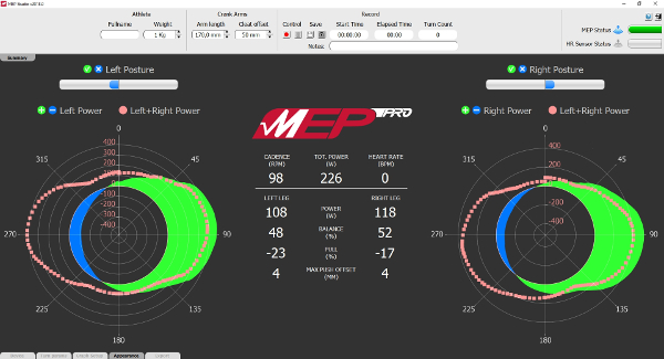Screenshot del software MEP Studio