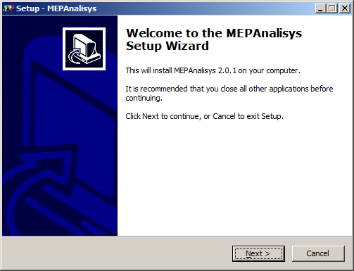 Screenshot MEPAnasisys installer